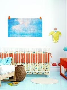 Alternative Color scheme - blues and red/orange.  Maybe add a map above the crib and make the theme global rather than animal?