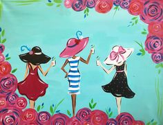 It's Friday! Raise your glass if you're ready for a girl's night out! #girlsnightout #wine #paintandsip #paint #TGIF