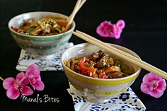Manal's Bites: النودلز الصينية ...اسرارها بمعادلة بسيطةStir Fried Noodles