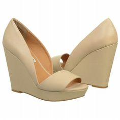 Women's NAUGHTY MONKEY Windsong Wedge Nude Leather Shoes.com