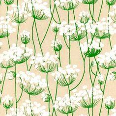 Queen Anne's Lace Print Lokta Paper - White