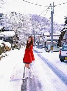 Asian Girl/Red Coat