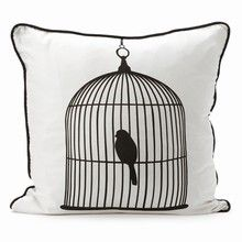 Ferm Living Silk Pillow - Birdcage large