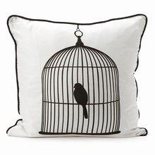 Ferm Living Silk Pillow - Birdcage large