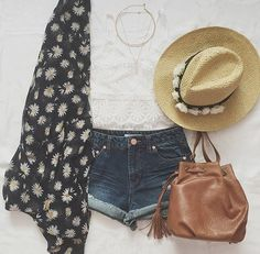 Cute spring outfit with kimono