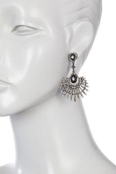 Image of Natasha Accessories Crystal Drama Chandelier Earrings