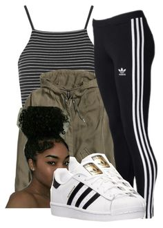 """Untitled #360"" by babygirl2018 ❤ liked on Polyvore featuring Topshop, H&M and adidas"