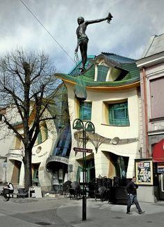Krzywy Domek, translated as Crooked House, is a shopping center in Sopot, Poland designed by Szotyńscy & Zaleski