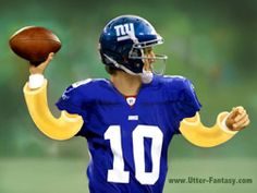 """I…Could Rely…on Eli (key word…""""Could"""") By Utter-Fantasy Writer & Illustrator Doug Bowles  and by Kraft Elbow Macaroni, the Noodles of Champions  I've always been of the opinion, that unless you get Peyton Manning, Aaron Rodgers or Drew Brees early, you can wait to get a quarterback.  Read more…    http://utter-fantasy.com/i-could-rely-on-eli-key-word-could/"""