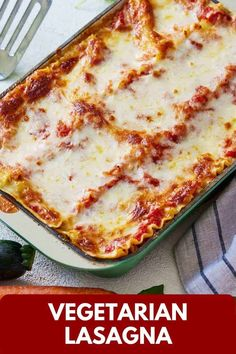 See how easy it is to turn simple everyday ingredients into this delicious Vegetarian Lasagna. Packed with vegetables between perfectly al dente pasta layers, this meatless lasagna is super flavorful and easy to make. Best Vegetarian Lasagna, Meatless Lasagna, Veggie Recipes, Vegetarian Recipes, Veggie Meals, Pasta Recipes, Yummy Recipes, Healthy Comfort Food, Healthy Meals