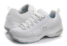 Skechers 12289, Bas Femme - Gris - Grey(Grey/White), 37.5 EU