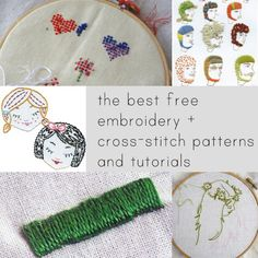 The best free embroidery and cross-stitch patterns and tutorials.