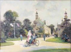 Scene of the Gatehouse at Welbeck Abbey, Nottinghamshire by Arthur Spooner