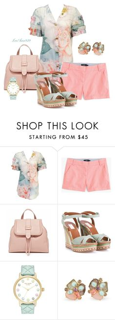 """floral top contest"" by leeann829 ❤ liked on Polyvore featuring Chanel, J.Crew, Valentino, Kate Spade and Carolee"