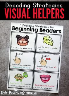 Decoding Strategies for Beginning Readers - This Reading Mama