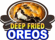 "Deep Fried Oreos Decal 14"" Concession Trailer Food Truck Vinyl Menu Sticker…"