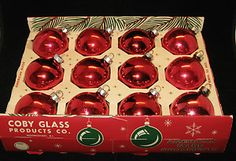 "Vintage Christmas Ornaments ~ Coby Glass Ornaments ~ ""American Made Ornaments"""