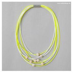 Necklace EO #2 Yellow-White 56 cm