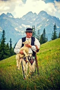 Shepherd from Rusinowa Polana - Tatra Mountains, Poland Polish Mountains, Polish Folk Art, Tatra Mountains, Plitvice Lakes National Park, Poland Travel, Thinking Day, Culture, Historical Pictures, My Heritage