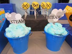 Cotton Candy Steam...too cute - Birthday Party Snacks