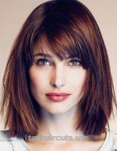 Marvelous straight medium-length hairstyle for square face                                … straight medium-length hairstyle for square face                                               ..