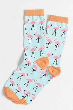 such cute flamingo print socks