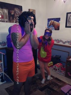 Best Dora the Explorer and Swiper the Fox Adult Couple Costumes… Coolest Halloween Costume Contest Halloween Costume Contest, Funny Halloween Costumes, Couple Halloween, Halloween Cosplay, Costume Ideas, Rave Costumes, Disney Costumes, Cosplay Costumes, Homemade Costumes