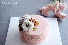 버터크림플라워케이크 butter cream flower cake www.kimncake.com