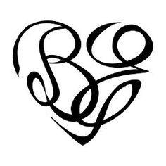 B+E heartigram tattoo
