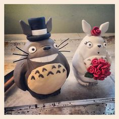 Totoro Wedding Cake Topper by I Do Cake Toppers, via Flickr