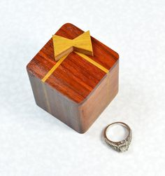 Ring Box Wedding Wood Engagement Small Wooden Handmade Eco Ukraine Rustic Pinterest
