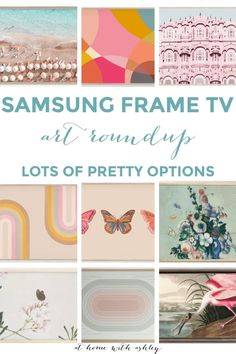 How to Decorate around a TV on the wall in a living room for a modern look. Samsung Frame TV art. A Gallery wall. How to frame it in and add a library light to create a beautiful space even on a large wall. Click through for the full tutorial Decor Crafts, Home Crafts, Diy Home Decor, Budget Decorating, Decorating Blogs, Craft Tutorials, Diy Projects, Frame Tv, Decorative Mouldings