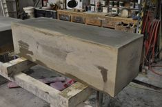 The Making of a Concrete Bench by Sticks and Stones Furniture » CONTEMPORIST