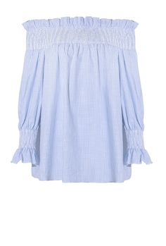 Show off your legs in this flirty off-the-shoulder top from Pixie Market.