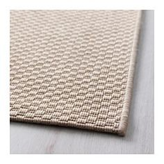 """IKEA - MORUM, Rug, flatwoven, beige, 5 ' 3 """"x7 ' 7 """", , Ideal in your living room or under your dining table since the flat-woven surface makes it easy to pull out the chairs and vacuum.The rug is perfect for outdoor use since it is made to withstand rain, sun, snow and dirt."""