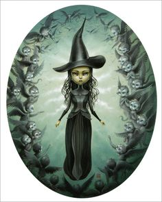 Mab Graves - Print - Elphaba and the Flying Monkeys - Nucleus | Art Gallery and Store