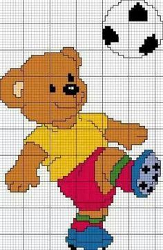 Teddy Soccer Football graph From https://au.pinterest.com/tykardona/