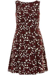 Merlot lily printed dress - Fit & Flare Dresses  - Dresses