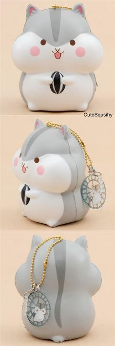 Kawaii Puni Maru gray hamster squishy holding a sunflower seed! Animal Squishies, Silly Squishies, Girl Toys Age 5, Toys For Girls, Kawaii Plush, Hamsters, Stress Toys, Beanie Boos, Justice Shoes