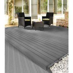 KARIBU Komplett-Set: WPC-Terrassendielen »Silver Cedar« inkl. Unterkonstruktion