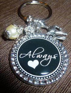Perfect gift for the Harry Potter fan! ALWAYS Bezel Key Ring  FABULOUS Gift  Key Chain by pixelilicious, $11.00