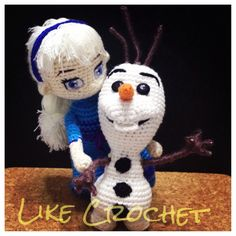 Hi I am Olaf, I love warm hugs! Elsa and Olaf Frozen Amigurumi  @Melanie Bauer Bauer Hall Winstead C would have a fit!