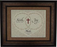 Hand Lettered Custom Calligraphy Wedding Gift - Christian décor -Scripture -Wall art