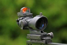 Aim ACOG 4×32 Red/Green Scope With Mini Red Dot(Black)