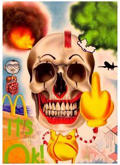 Angelo Volpe: It's Ok!, 2012 #urbanart #painting #streetart #skull