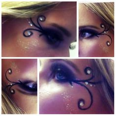 Diy fairy Halloween makeup.