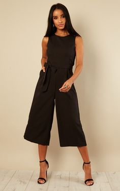 bd672538e143 Layla Longline Culotte Jumpsuit In Black Jumpsuit Dress