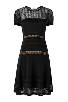 61f318b2eed9f The DVF Celina is a textured knit dress with a sheer lace neckline and  flattering a-line skirt. Yuko Kamemoto · DIANEvonFURSTENBERG