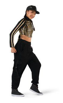 11742a4fe1c9 Click for more information about Houndstooth Athletic Crop Hip Hop Costumes,  Dance Costumes, Athletic