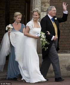 Lady Rose Windsor with her father,Prince Richard,Duke of Gloucestershire a cousin of Queen Elizabeth II